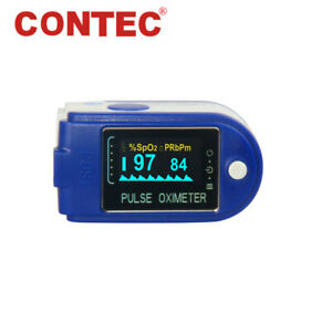 24hour Sleep Fingertip Pulse Oximeter Blood Oxygen Monitor Spo2 O2 Sensor contec