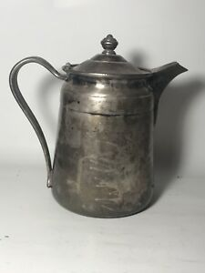 Reed Barton Silver Soldered 64 Oz 2858 Coffee Water Pitcher Pot Sheraton Hotel
