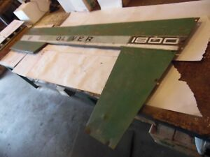 Oliver 1800 a Farm Tractor Right Hood Panel nice