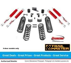 Trail Master Jeep Jk Wrangler 3 Inch Coil Spring Lift Kit With Rancho Shocks