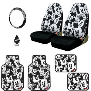 New Disney Mickey Mouse Car Truck Suv Seat Covers Floor Mats Set For Nissan