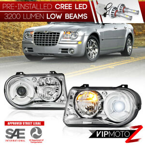 Cree Led Bulb 05 10 Chrysler 300c Factory Style Replacement Headlight Assembly