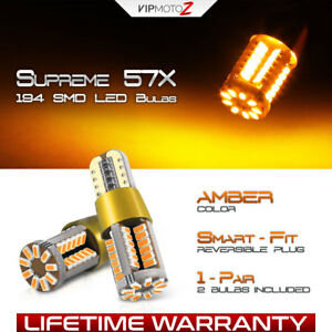 Bright Amber 194 168 T10 Led Drl Lamp High Power Parking Light Bulbs 2825 192