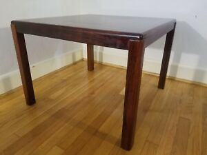 Danish Modern Rosewood End Coffee Table Henning Kjaernulf For Vejle Stole Square