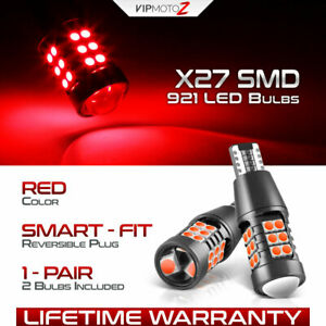 Rosso Red T15 921 Smd Led Tail Brake Rear Stop Truck Cargo Bed Lamp Light Bulb