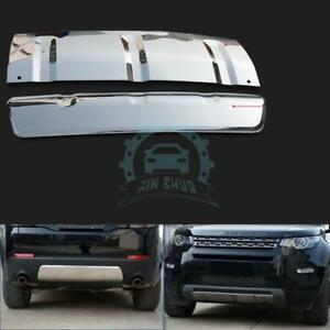 2x Front rear Bumpers Lower Exterior Trim Glossy For Land Rover Discovery Sport