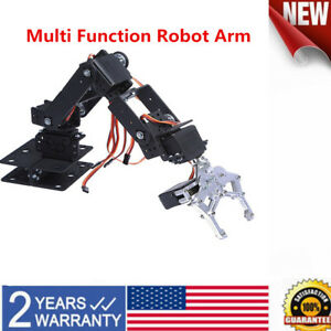 Aluminium Metal 6 Dof Robot Arm Clamp Claw Swivel Stand Mount Kit For Arduino