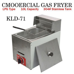 Hot Commercial Countertop Gas Fryer 1 Basket Gf 71 Propane lpg W Metal Tube
