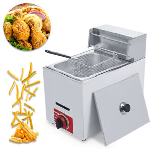 Commercial Countertop Gas Fryer 1 Basket Gf 71 Propane lpg 10l W Metal Tube
