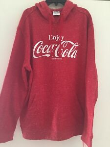 Enjoy Coca Cola Red Hoodie Size Large