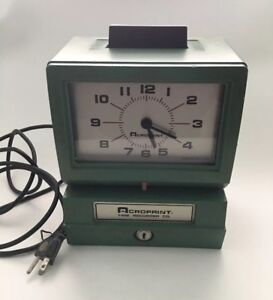 Acroprint Time Recorder Works Pre owned Auc