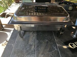 Tigerchef 8 Quart Full Size Stainless Steel Chafer With Folding Frame And Coo