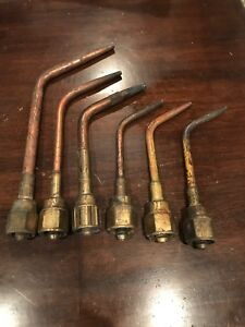Victor Cutting Welding Torch Attachment Handle Tip Lot