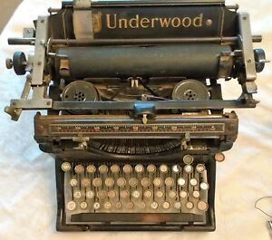 Antique 1912 5 Underwood Typewritr