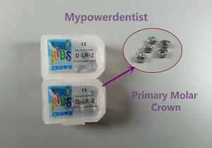 Dlr 2 Dental Kid Primary Molar Crown Preformed Pediatric Stainless Steel 20pcs