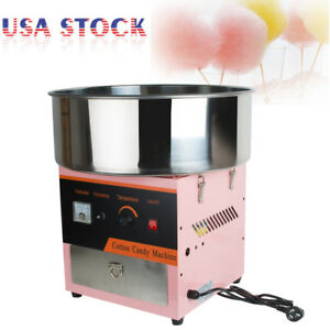 Electric Cotton Candy Machine Floss Maker Commercial Carnival Party Pink New