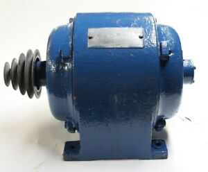 General Electric Induction Motor W Pulley 1 Hp 1140 Rpm 3 Phase 220 440 Volt