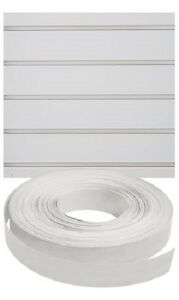 Vinyl Inserts Slatwall White Panel Shelving Display 130 Ft 3 Rolls Decorative