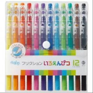 Pilot Frixion Color Erasable Gel Ink Pen 0 7 Mm 12 Color Set F S W Tracking