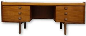 Beautiful Teak Mid Century Danish Style Desk With Stunning Grain From Europe