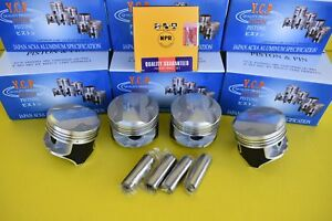 Ycp 75mm P29 Pistons Coated W Npr Rings High Dome Compression Honda D16 Std