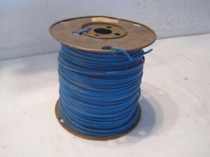 Partial Spool Of Blue Electrical Cable copper Electrical Wire 12 Awg Rw90