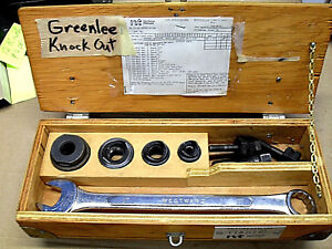 Greenlee Slug Buster Knockout Punch Set 1 2 Through 1 1 4