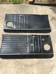 1964 Gto Lemans Front Door Panels Black Oem Good Condition Ships Fast