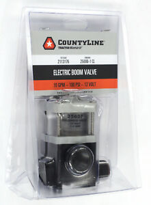Countyline Solenoid Electric Boom Valve 10 Gpm 100 Psi 12v