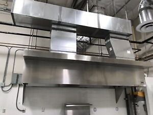 Commercial Kitchen Restaurant Hood And Exhaust Blower For 12 Foot Hood