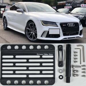 For 16 up Audi A7 S7 Rs7 Tow Hole Hook License Plate Bracket Holder Relocator