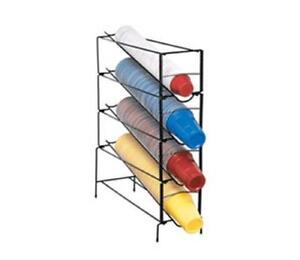 Dispense rite 4 Section Vertical Wire Rack Cup Dispenser One Size Fits All