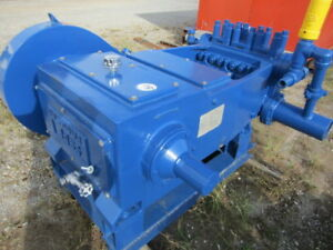 Used National J 165 Triplex Plunger Pump W 4 Pistons