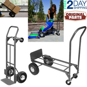 Heavy Duty Platform Trolley Cart Hand Truck With Convertible Steel Folding Dolly