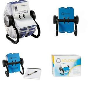 Rolodex Open Rotary Business Card File With 200 2 5 8 By 4 Inch Sleeve And