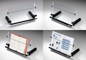 3m Adjustable Document Copy Holder In line With Monitor Minimizing Head And