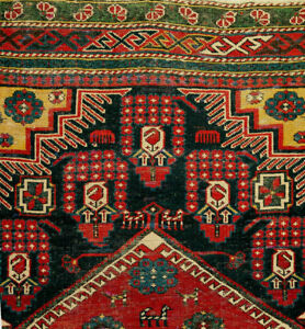 Antique Caucasian Shirvan Kuba Rug