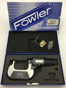 Fowler 54 860 212 Electronic Ip54 Ball anvil Spindle Micrometer 1 2 25 50mm