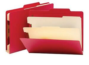 Smead Classification File Folder 2 Dividers 2 Expansion Letter Size Red 10