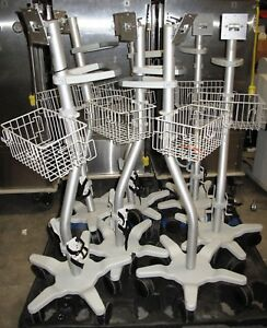 Lot 7 Polymount Rolling Stands For Spacelabs Sl Ultraview 91369 And 91370