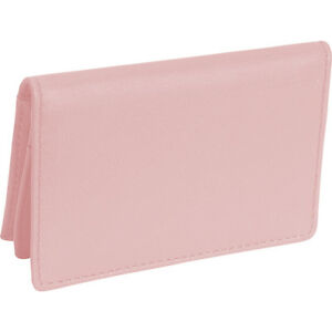 Royce Leather Deluxe Card Holder Carnation Pink Business Accessorie New