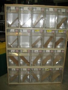 Storage 20 Compartment Tilt Bins