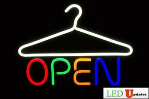 Dry Cleaner Storefront Led Open Sign Laundromat On off Switch Ul Power Supply