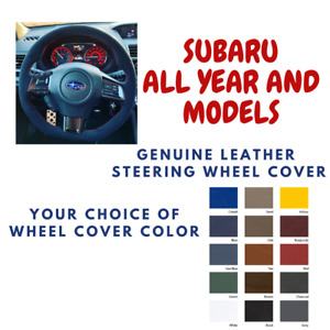 Subaru All Models Wheelskins Leather Steering Wheel Cover Custom Fit Many Colors