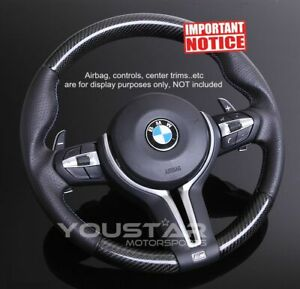 Genuine Carbon Nappa Leather Steering Wheel For Bmw M Sports M4 M3 M2 X5m X6m