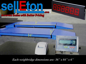 New 60 000 Lb Axle Truck vehicle Weighing Scale With Scoreboard Printer