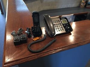Panasonic Kx tgp550 Sip Phone Base Unit Cordless Handset