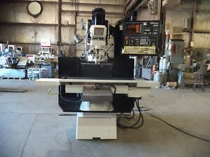 2000 Hurco 3 Axes Cnc Bed Type Vertical Milling Machine Model Hawk 30 Ssm