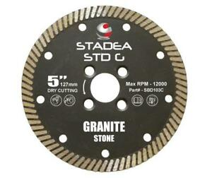 Stadea Diamond Saw Blade 5 inch Continuous Turbo For Grinder Granite Dry Cutting