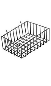 5 Slatwall Baskets Wire 12 X 8 X 4 Pegboard Display Basket Slat Wall Black